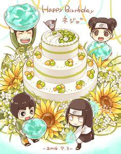 Rock Lee, Guy-sensei, TenTen, & Neiji! Happy Birthday~