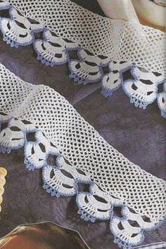 Barrados em Crochê com Gráficos