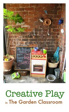 Ideas for creative play outdoors :: how to use your garden :: outdoor play :: gardening with kids :: outdoor play spaces Outdoor Play Structures, Outdoor Play Spaces, Outdoor Classroom, Outdoor School, Mud Kitchen, 100 Fun, Outdoor Learning, Creative Play, Creative Ideas