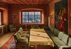 Berchtesgaden, Germany, The inside of Hitler's house.
