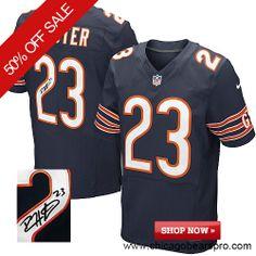 ac72a1ea3  129.99 Men s Nike Chicago Bears  23 Devin Hester Elite Team Color Blue NFL  Alternate Autographed