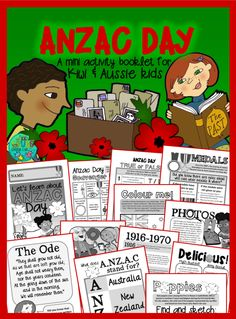 Classroom ideas, a family mystery FREE Printable Wall Posters! by Green Grubs Garden Club Anzac Day For Kids, Kindergarten Activities, Activities For Kids, Anzac Soldiers, Remembrance Day Activities, Educational Assistant, Australian Curriculum, Australia Day, Book Week