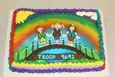 scout idea, scout stuff, girlscout party, girl scout cakes, daisi, girl scout daisy bridging, bridging to juniors cakes, girl scout bridging cakes, bridg cake