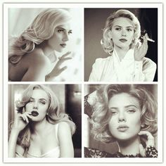 Scarlett Johansson Hairstyles: Retro Curls