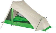 Sierra Designs Flashlight 1 Shelter with NightGlow: Tan/Green, 1-person