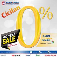 Kabar gembira untuk Sahabat Kenari Djaja yang berada di Semarang, Jogja, Bali dan Makassar. Kenari Djaja mengadakan Promo Mid Year Sale dari tanggal 08 Mei - 20 Mei 2017.  Belanja di KENARI DJAJA semakin mudah dengan fasilitas cicilan 0% dari Bank BCA, Mandiri dan Permata ....  [ K E N A R I D J A J A ] PELOPOR PERLENGKAPAN PINTU DAN JENDELA SEJAK TAHUN 1965  SHOWROOM :  JAKARTA & TANGERANG 1 Graha Mas Kebun Jeruk Blok C5-6 Telp : (021) 536 3506, Fax : (021) 530 0592  2 Jl...