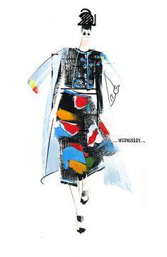 Renshou-Zhang-Thom-Browne-Spring-2015-6 Fashion illustration