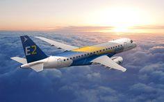 Embraer terá cinco aviões de testes da família E-Jet E2