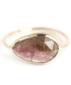 Tourmaline Slice Ring