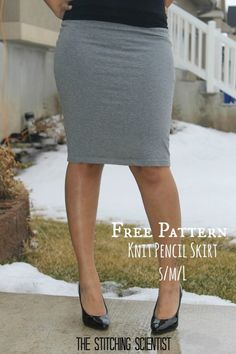 FREE Sewing Pattern - Sexy Knit Pencil Skirt, Pattern In Sz Small, Medium & Large
