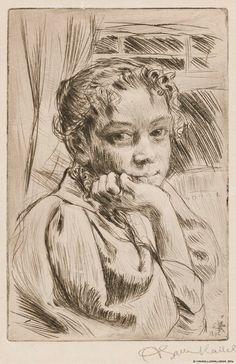 Taiteilijan vaimo Mary Gallen, 1896