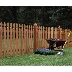 shop wood fencing 42 x 8 premium cedar gothic picket fence panel intended for Cedar fence panels Unique Model Cedar Fence Panels Wood Fence Post, Wood Picket Fence, Picket Fence Panels, Cedar Fence, Wood Fences, Bamboo Fence, Gabion Fence, Fence Posts, Brick Fence