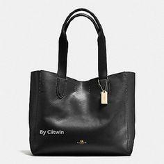 c92d69a42a47 New COACH F58660 Pebble Leather Derby Tote Shoulder Bag Handbag Purse Black   138.0 Satchel Handbags