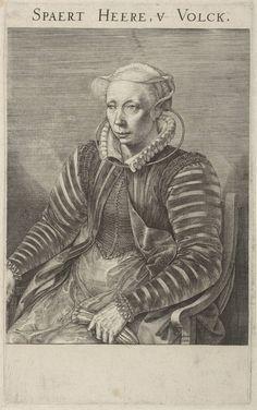 Portrait of Volcxken Dierckx, Johannes Wierix, 1579 | Museum Boijmans Van Beuningen