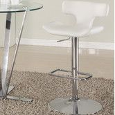 $165 black or white Found it at AllModern - Pneumatic Gas Adjustable Height Swivel Bar Stool