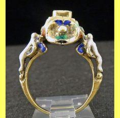 Antique-Ring-Figural-Renaissance-Neo-Renaissance-Gold-Diamond-Enamel-5612