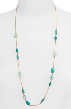 Free shipping and returns on kate spade new york 'glossy petals' long station necklace at Nordstrom.com. A luxe mix of stone, crystal and enamel-painted flowers lines this gilded, easy-to-layer necklace.