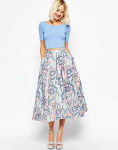 ASOS Premium Wool Full Midi Skirt in Winter Pastel  What a beautiful skirt!!!