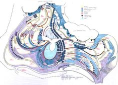 Eden Project hand drawn plan by Land Use Consultants.