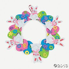 Easter Wreath Craft Kit, Decoration Crafts, Crafts for Kids, Craft & Hobby Supplies - Oriental Trading