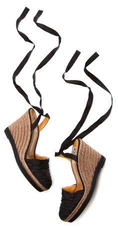 Lanvin Black Lace-Up Espadrilles via Shop-Hers