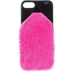 Yggy Paris Mink fur iPhone 7/8 plus case (1,150 PEN) ❤ liked on Polyvore featuring accessories, tech accessories and pink