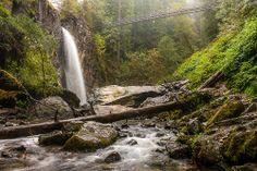 Drift Creek Falls on a Very Rainy Day, Lincoln County, Oregon