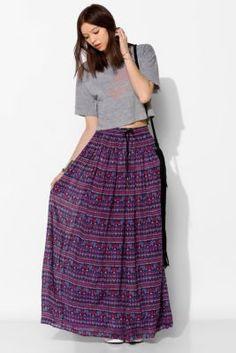 Band of Gypsies Gauzy Fractal Maxi Skirt