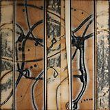 "Michael Kessler, ""Coppice 5"", Acrylic on Board, 18"" x 18"""