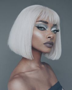 Beauty Makeup, Hair Makeup, Hair Beauty, Nyane Lebajoa, Curly Hair Styles, Natural Hair Styles, Creative Makeup Looks, Hair Reference, Black Girl Aesthetic
