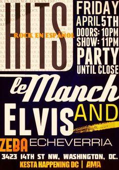 HITS de Rock En Español, este Viernes 5 de Abril en ZEBA BAR junto a Elvis Echeverria a pura trova y DJ Rockativo Fiesta hasta las 3!