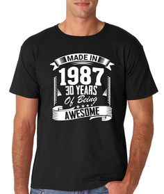 Hot Sell Fashion T-shirts  Made In 1987 - 30 Years of Being Awesome - Birthday Premium Men's T-Shirt