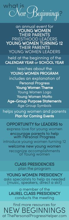 What is New Beginnings? an overview of handbook guidelines to help you plan an amazing program from ThePersonalProgressHelper.com!