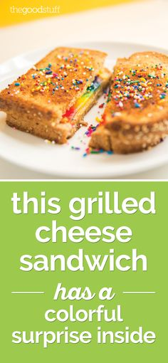 This Rainbow Grilled Cheese Sandwich Has a Colorful Surprise Inside | thegoodstuff