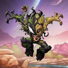 Which is your favorite venomized hero? Art by Venom Comics, Marvel Comics Art, Marvel Heroes, Groot Comics, Deadpool Wallpaper, Marvel Wallpaper, Symbiotes Marvel, Chibi Marvel, Desenhos Harry Potter
