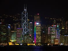 via www.mountainadventures.com    Hong Kong, China. The largest permanent light and sound show in the world is Hong Kong!