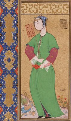 It's About Time: Illuminated Manuscripts - Women as Lovers & Wives by Riza Abbasi (Iranian atist, 1565-1635)