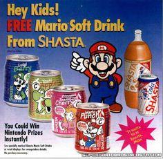 Mario Bros. Shasta Soft Drinks