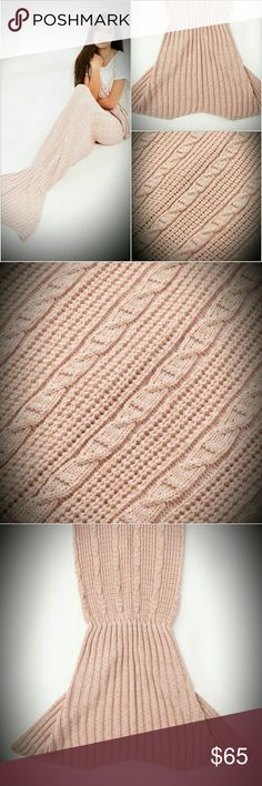 MISSGUIDED FISHTAIL BLANKET MERMAID THROW PINK NEW NEW IN PLASTIC.. BABY PINK MERMAID BLANKET.. LAST ONE! No trades!  Sold out.. Hard to find! Excellent quality Missguided Sweaters