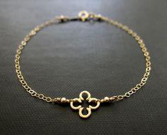 Quatrefoil Charm Bracelet