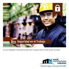 Un sólo trabajador imprudente puede hacer inseguro todo un taller ¡ponte las pilas! #SeguridadLaboral