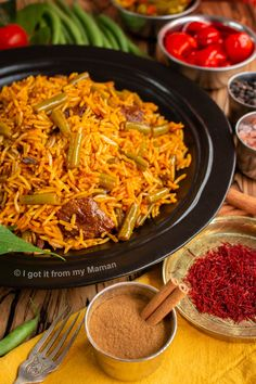 Loobia Polo is a mouthwatering Persian rice dish with lamb and green beans.