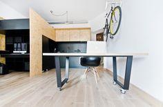 Le studio d'architecture polonaismode:lina (pour retrouver les précédents articles, cliquez ici et là)a récemment terminé l'aménagement de ce petit espac