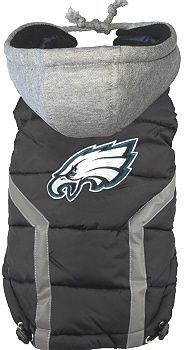 NFL Philadelphia Eagles Licensed Dog Puffer Vest Coat - S - 3X