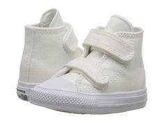 Converse Kids - Chuck II Hi 2V (Infant/Toddler) (White/White/Navy) Kid's Shoes