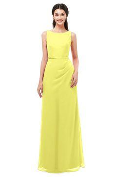 5107de61128d ColsBM Livia - Pale Yellow Bridesmaid Dresses. ColsBM Livia Pale Yellow Bridesmaid  Dresses Sleeveless A-line Traditional Pick up Floor Length Sabrina