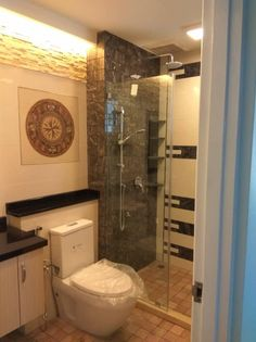 My dad singlehandedly renovated this bathroom. Im so proud of him!