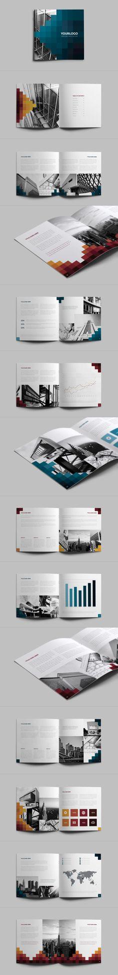 Pixels Square Brochure. Download here: http://graphicriver.net/item/pixels-square-brochure/6586956?ref=abradesign #design #brochure