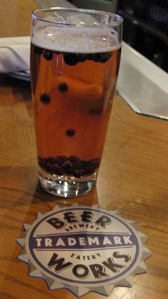 Boston Beerworks Bunker Hill Blueberry Ale..but I really can't wait for their watermelon beer!