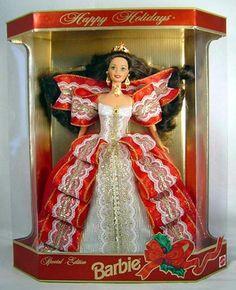 1997 Holiday Barbie Doll,Ashley's birth year